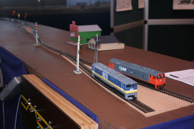 An offset view of the layout. Signals showing diverting route.